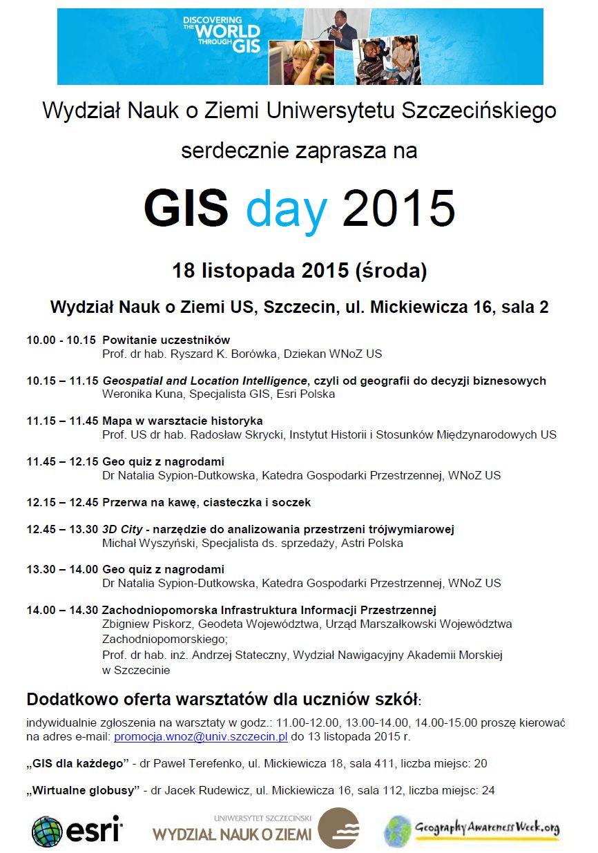 GIS Day na Wydziale Nauk o Ziemi