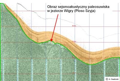 Jez. Wigry - sejsmogram paleoosuwiska
