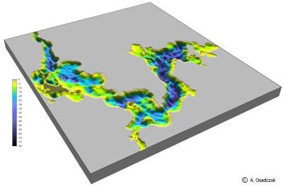 Jez. Wigry - wizualizacja 3D morfologii dna