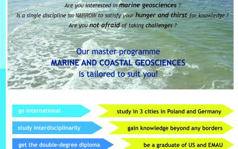 Anglojęzyczne studia II stopnia Marine and Coastal Geosciences