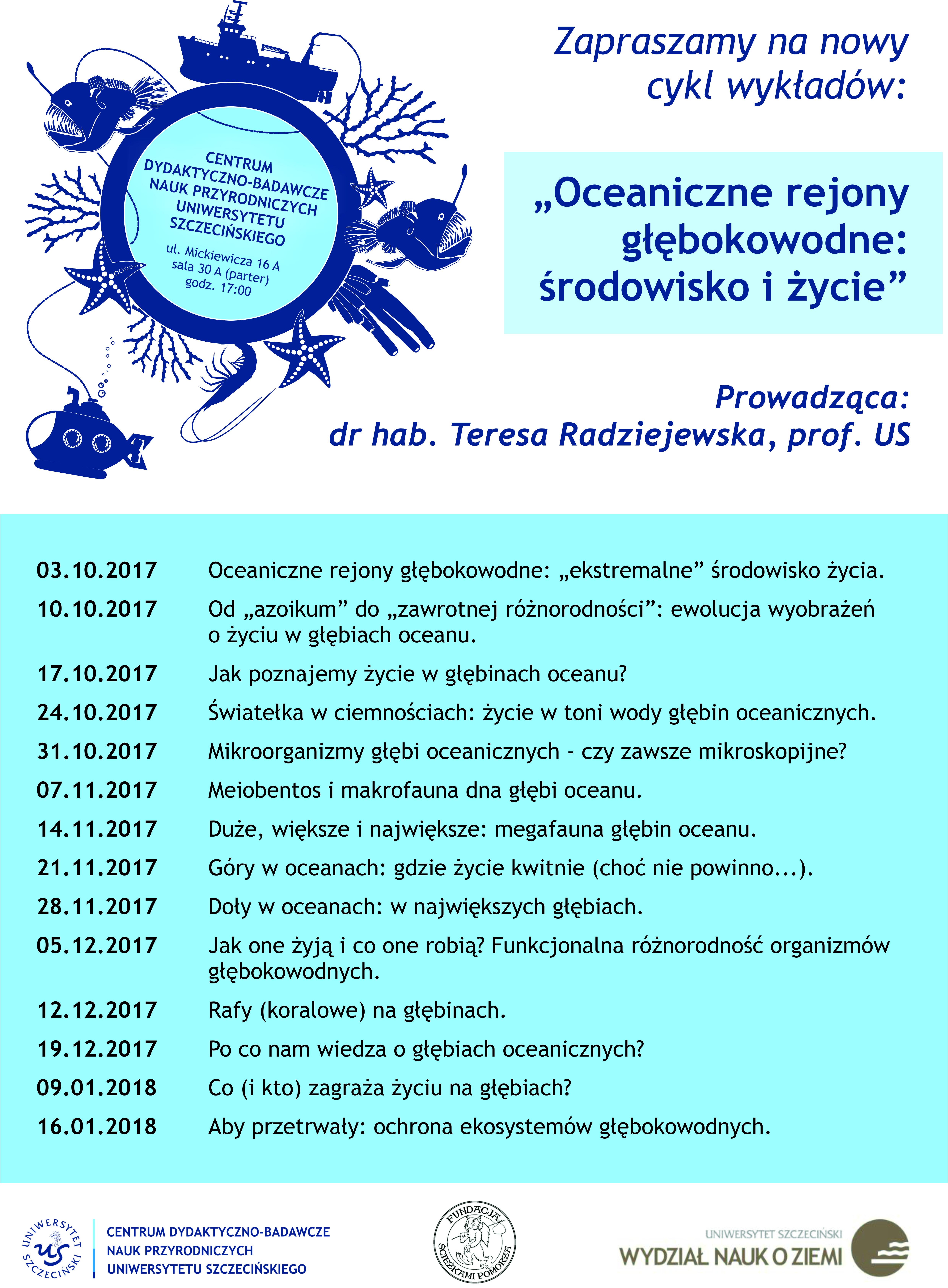 """Nowy cykl wykładów """"Oceaniczne rejony głębokowodne: środowisko i życie"""""""