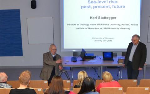 Prof. Dr. Karl Stattegger na Wydziale Nauk o Ziemi