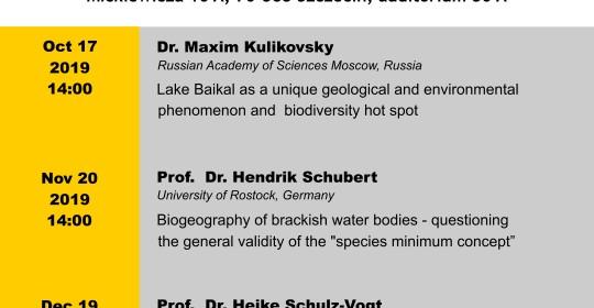 Szczecin Alexander-von-Humboldt Seminars winter semester 2019/2020