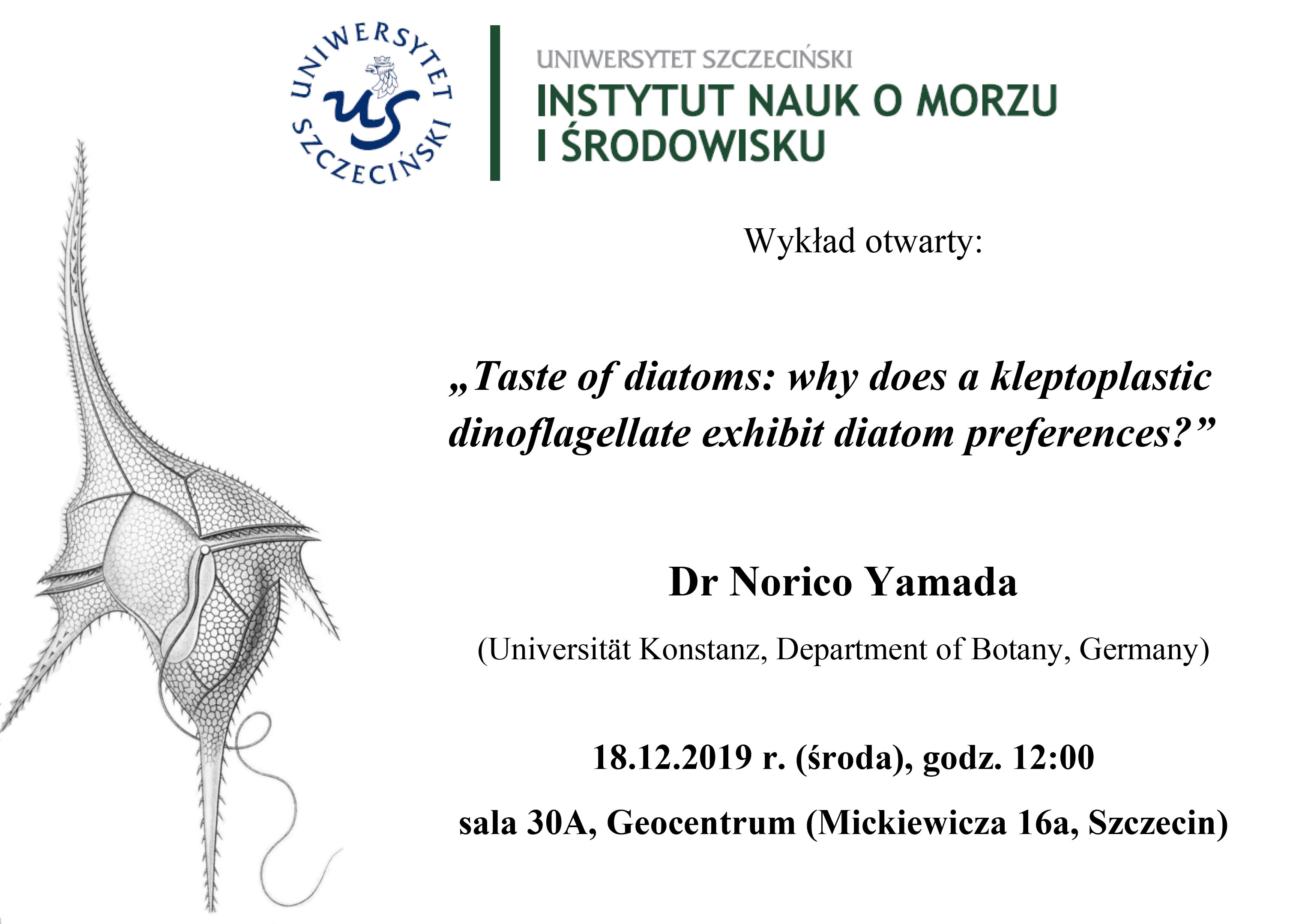 Wykład dr Norico Yamada – 18.12.2019