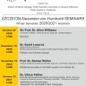 Webinary z cyklu Alexander-von-Humboldt Seminars semestr zimowy 2020/2021